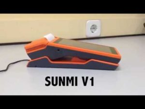 video TPV Táctil portátil SUNMI Android con impresora - tpv tactil valencia